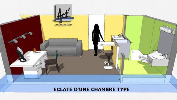 Act 39 architecture foyer soleil le levain for Foyer jeune travailleur bordeaux